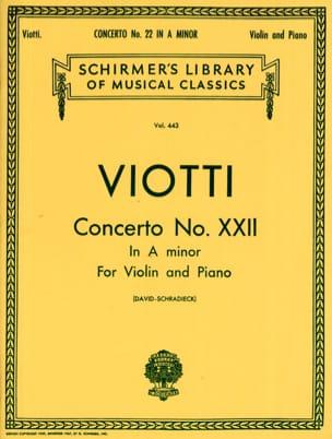 Concerto Violon n° 22 la mineur Giovanni Battista Viotti laflutedepan