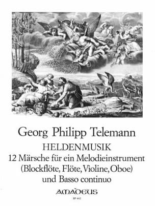 TELEMANN - Heldenmusik - 12メルシェ - 楽譜 - di-arezzo.jp