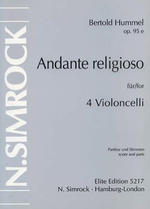 Bertold Hummel - Andante Religioso op. 95 e - Partition - di-arezzo.fr