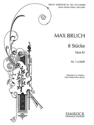 Max Bruch - 8 Stücke op. 83, no. 1 a-moll - Klarinette Viola Klavier - Sheet Music - di-arezzo.co.uk