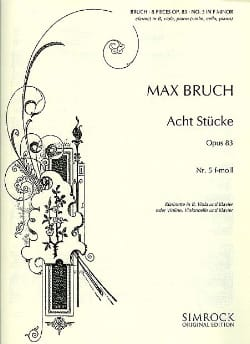 Max Bruch - 8 Stücke op. 83, no. 5 f-moll - Klarinette Viola Klavier - Partition - di-arezzo.co.uk