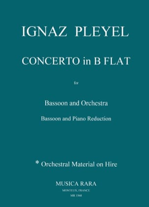 Ignaz Pleyel - Major Bb Concerto - Bassoon and Piano - Sheet Music - di-arezzo.com