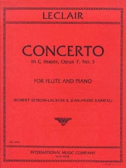 Jean-Marie Leclair - Concerto In C Major Op. 7 N ° 3 - Sheet Music - di-arezzo.co.uk