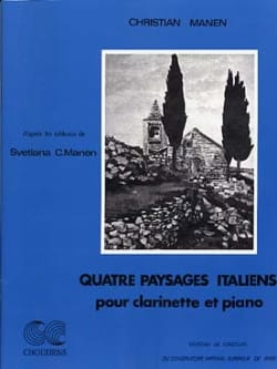 Christian Manen - 4 Italian landscapes - Sheet Music - di-arezzo.co.uk