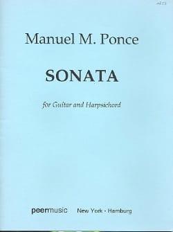 Sonata -Guitar Harpsichord Manuel Maria Ponce Partition laflutedepan