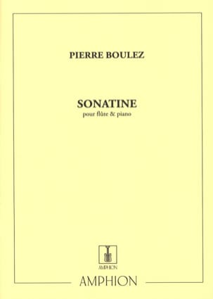 Pierre Boulez - Sonatine – Flûte piano - Partition - di-arezzo.fr