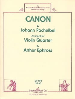Johann Pachelbel - Canon - 4 Violins - Sheet Music - di-arezzo.co.uk