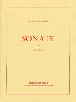 Arthur Honegger - Sonate pour Alto et Piano - Partition - di-arezzo.fr