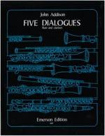 Five Dialogues - Flute and clarinet John Addison laflutedepan