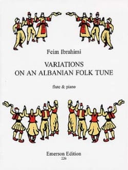 Feim Ibrahimi - Variations On An Albanian Folk Tune - Partition - di-arezzo.fr