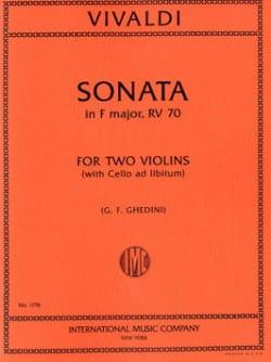 VIVALDI - Sonata in F Major F 13 No. 4 - Partition - di-arezzo.com