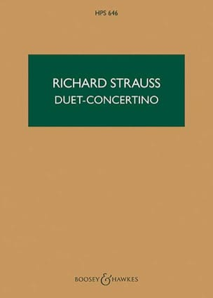 Duet-Concertino - Score Richard Strauss Partition laflutedepan