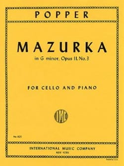 David Popper - Mazurka in G Minor op. 11 n° 3 - Partition - di-arezzo.fr