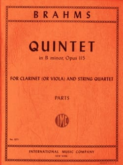 Johannes Brahms - Quintet in B minor op. 115 –Clarinet (or viola) string quartet - Parts - Partition - di-arezzo.fr