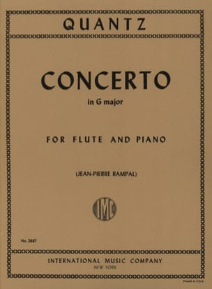 Johann Joachim Quantz - Concerto in G major QV 5: 174 - Piano flute - Sheet Music - di-arezzo.co.uk