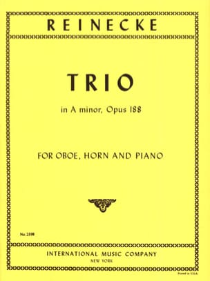 Carl Reinecke - Trio in A Minor Opus 188 - Sheet Music - di-arezzo.co.uk