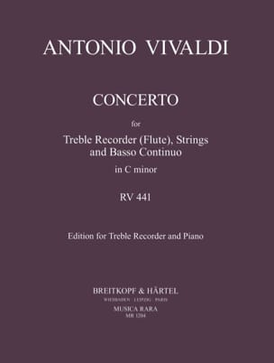 Concerto In C Minor Rv 441 - Treble Recorder Piano laflutedepan