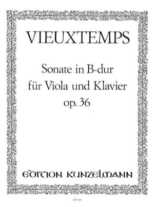 Sonate in B Dur op. 36 VIEUXTEMPS Partition Alto - laflutedepan