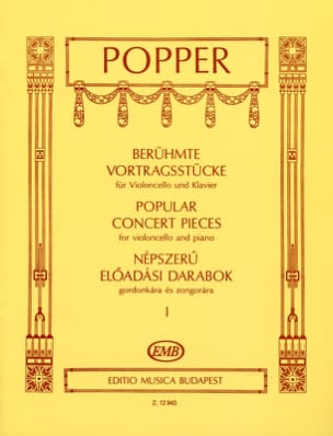 David Popper - Popular Concert Pieces Volume 1 - Partition - di-arezzo.fr