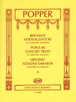 David Popper - Popular Concert Pieces Volume 2 - Violoncelle - Partition - di-arezzo.fr