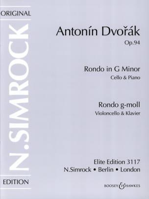 Rondo op. 94 DVORAK Partition Violoncelle - laflutedepan
