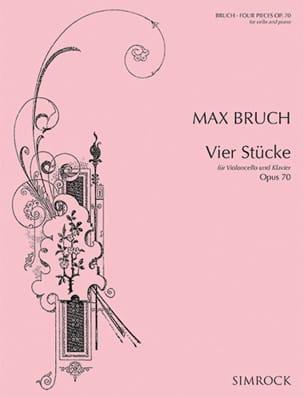 4 Stücke op. 70 BRUCH Partition Violoncelle - laflutedepan