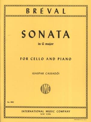 Sonate en SOL Majeur Jean-Baptiste Bréval Partition laflutedepan