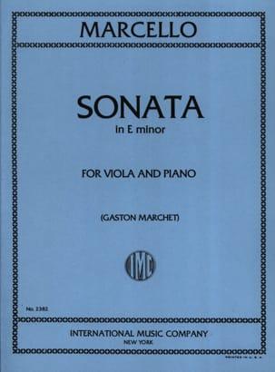 Benedetto Marcello - Sonata in mi minore - Viola - Partitura - di-arezzo.it