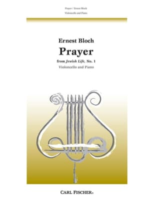 Ernest Bloch - Prayer – Violoncelle - Partition - di-arezzo.fr