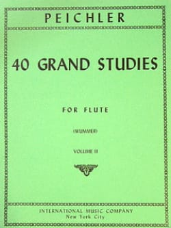 Antonio Clemente Peichler - 40 Grand Studies - Volume 2 - Flute - Partition - di-arezzo.fr