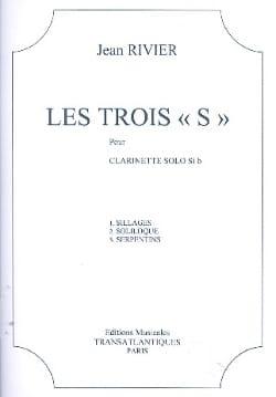 Jean Rivier - Les trois S - Partition - di-arezzo.fr