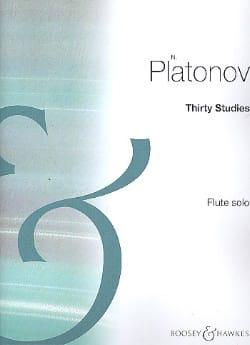 Nicholas Platonov - Thirty Studies - Flute - Partition - di-arezzo.fr