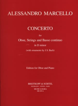 Alessandro Marcello - Concerto in D minor - Oboe and Piano - Sheet Music - di-arezzo.co.uk