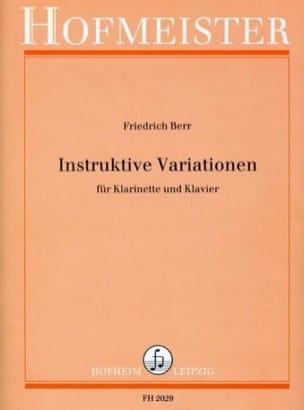 Instruktive Variationen - Klarinette Klavier - laflutedepan.com