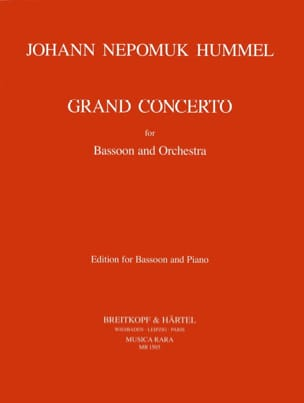 HUMMEL - Grand Concerto - Bassoon piano - Sheet Music - di-arezzo.co.uk
