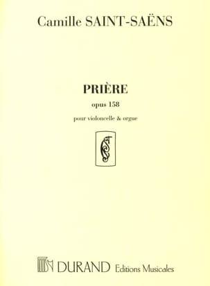 Camille Saint-Saëns - Prière op. 158 - Partition - di-arezzo.fr