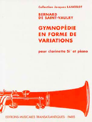Bernard de SAINT- VAULRY - Gymnopedy in the form of variations - Sheet Music - di-arezzo.co.uk