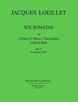 6 Sonates, Op. 4 - Jacques Loeillet - Partition - laflutedepan.com