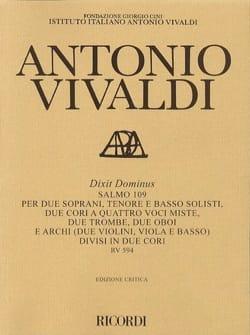 Antonio Vivaldi - Dixit Dominus (Salmo 109) RV 594 - Partition - di-arezzo.fr