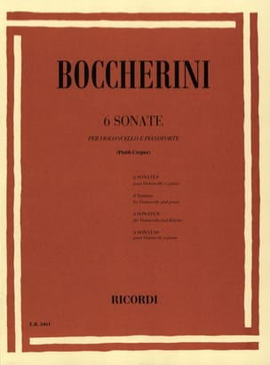 BOCCHERINI - 6 Sonatas - Sheet Music - di-arezzo.co.uk