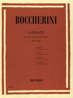 6 Sonates BOCCHERINI Partition Violoncelle - laflutedepan