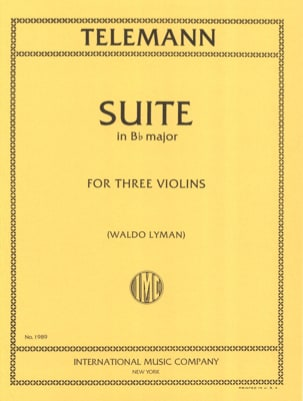TELEMANN - Suite in B flat major for 3 violins - Sheet Music - di-arezzo.co.uk