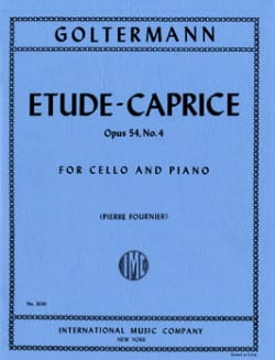 Georg Goltermann - Etude-Caprice op. 54 n° 4 - Partition - di-arezzo.fr