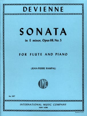 François Devienne - Sonata in E minor op. 68 n° 5 – Flute piano - Partition - di-arezzo.fr