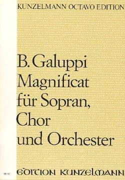 Baldassare Galuppi - Magnificat – Partitur - Partition - di-arezzo.fr