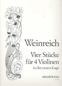 Justus Weinreich - 4 Stücke für 4 Violinen - Partition - di-arezzo.fr