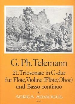 TELEMANN - Triosonate Nr. 21 G Dur - Flute Violine Oboe, Flute u. Bc - Sheet Music - di-arezzo.com
