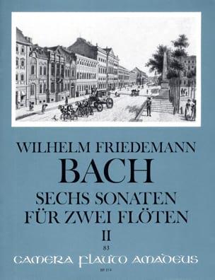 6 Sonaten, Volume 2 - 2 Flûtes Wilhelm Friedemann Bach laflutedepan