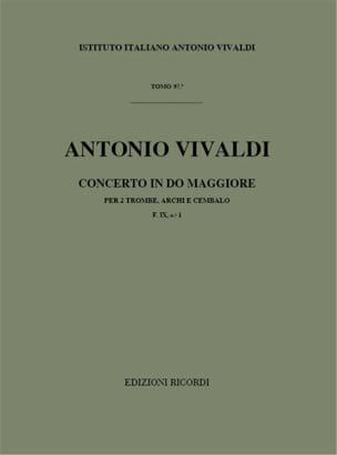 Antonio Vivaldi - Concerto en Do Maj. - F. 9 n° 1 – Partitura - Partition - di-arezzo.fr