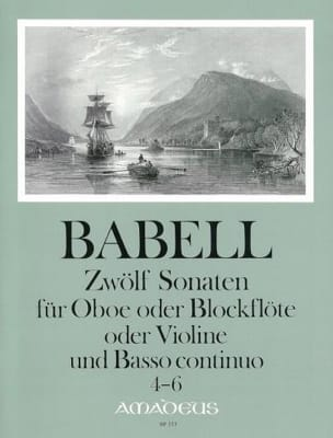 William Babell - 12 Sonates Volume 2 - 4 à 6 - Hautbois et Bc - Partition - di-arezzo.fr